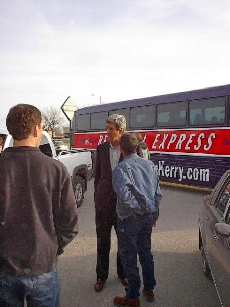 Sen. and Presidential Candidate John Kerry in Onawa, Iowa