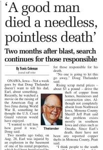 Sioux City Journal article from Oct. 28, 2007