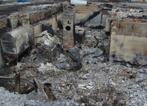 What's left of a home after an explosion caused by copper thieves