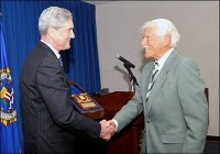 FBI Director Robert Mueller and Efrem Zimbalist, Jr.