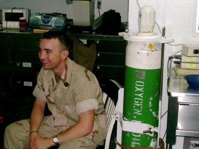 US Navy Corpsman Matthew Clayton