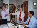 Gov. Bill Richardson at the Thelander home, Sept. 13, 2007