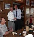 Gov. Mark Warner in Onawa, Aug. 06