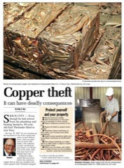 Sioux City Journal copper theft image